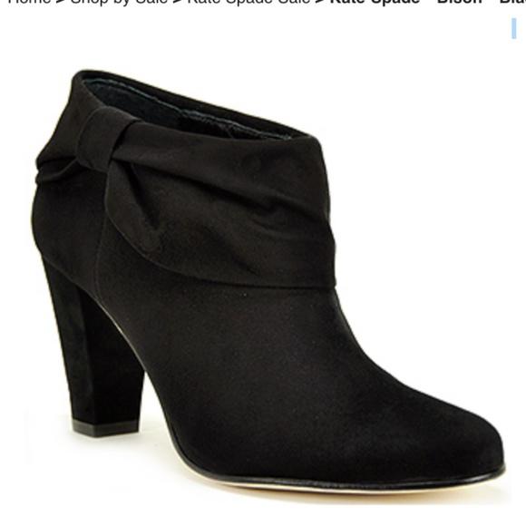 0c0638a40c6 kate spade Shoes - kate spade bison black Suede Bootie 6.5